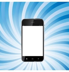 Abstract Design Realistic Mobile Phone with Blank vector