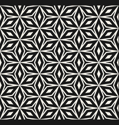 Abstract geometric seamless pattern monochrome vector