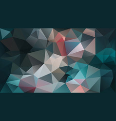 Abstract irregular polygon background teal blue vector