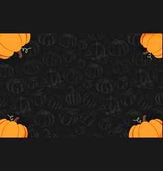 autumn on the dark background with hand-draw vector image