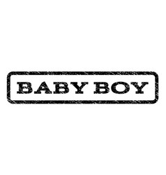 Baby boy watermark stamp vector