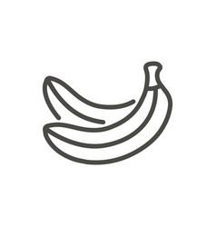banana icon outline fruit line banana sym vector image