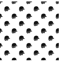 Baseball helmet pattern vector