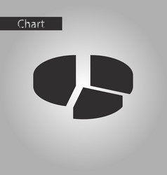 Black and white style icon circular economic chart vector