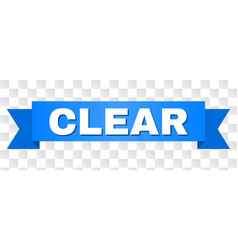 Blue ribbon with clear caption vector