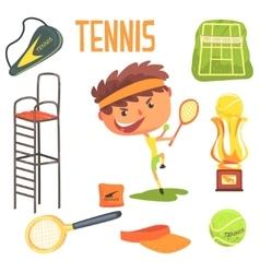 Boy Tennis PlayerKids Future Dream Professional vector