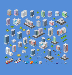 Building city map kit vector