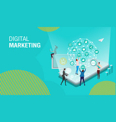 business digital marketing1 vector image