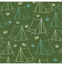 Camping seamless pattern background vector