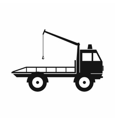 Car towing truck icon simple style vector image