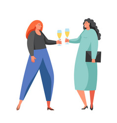 Celebration party women flat isolated vector