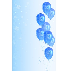 Christmas background with balloons vector image