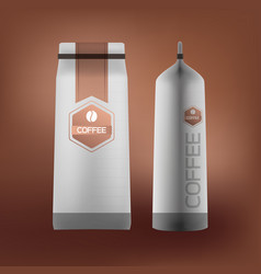 coffee packaging design vector image