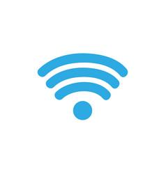 colorful wifi symbol of digital internet vector image