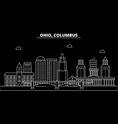 columbus silhouette skyline usa - columbus vector image