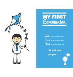 Communion boy vector