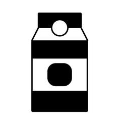 contour delicious milk box product to nutrient vector image