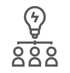 Creative line icon development and business vector
