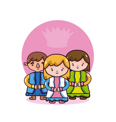 cute king and queens vector image