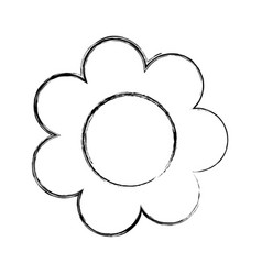 cute sunflower drawing icon vector image