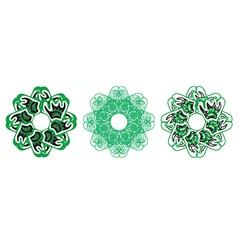Decorative floral pattern motif vector image