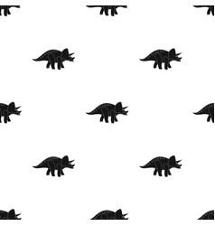 Dinosaur triceratops icon in black style isolated vector