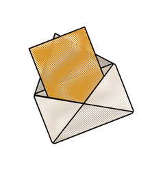 Drawing email message communication web vector