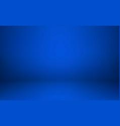 Empty blue studio room interior clean workshop vector
