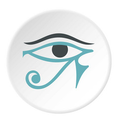 Eye of horus icon circle vector