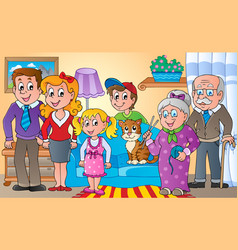 family theme image 2 vector image