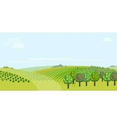 Farm field vector