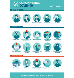 flat modern design coronavirus - safety vector image