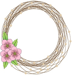 Floral frame flower Wreaths vector