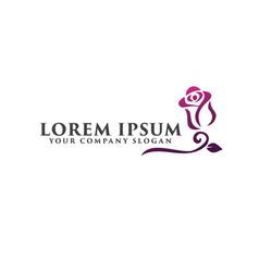 Flower logo cosmetics and beauty logo design vector