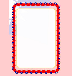 frame and border of ribbon with taiwan flag vector image