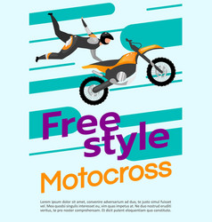 Freestyle motocross poster template extreme sport vector