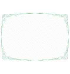 Green frame border with security protective grid vector