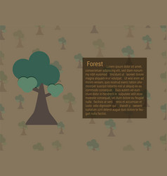 Growing forest and text box vector