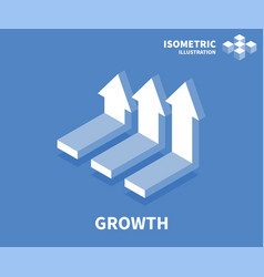 growth icon isometric template for web design vector image