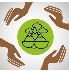 hands together environment concept vector image