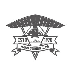 Hang gliding club emblem template design element vector