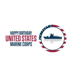 happy birthday united states marine corps vector image