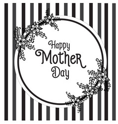 happy mother day lettering flower vector image