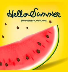 Hello summer inscription on background of vector