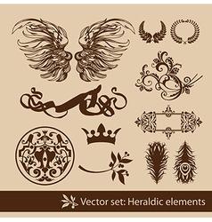 Heraldy elements vector