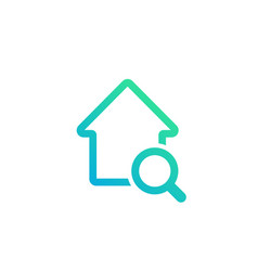 house search icon vector image