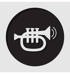 Information icon - trumpet vector