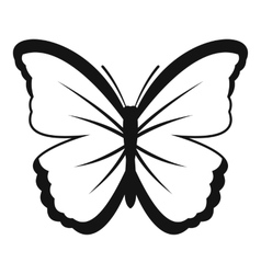 Insect butterfly icon simple style vector