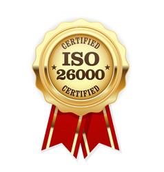 iso 26000 standard rosette - social responsibility vector image