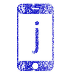 J phone textured icon vector